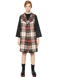 I'm Isola Marras Plaid Wool Blend Coat
