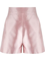 Martha Medeiros High Waisted Shorts Pink And Purple