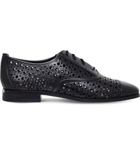 Michael Michael Kors Sunny Perforated Leather Oxford Shoes Black