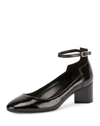 Pierre Hardy Belle Patent Ankle Strap Pump Black