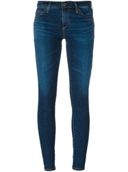 Ag Jeans 'Stilt Cigarette' Cropped Blue