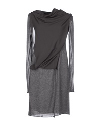 Ekle' Short Dresses Grey
