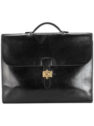Hermes Vintage 'Sac A Depeches' Briefcase Black