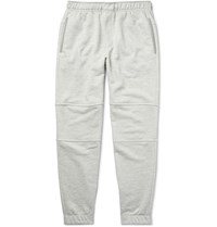 Theory Dryden Tapered Loopback Cotton Jersey Sweatpants Light Gray