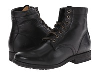 Frye Tyler Lace Up Black Soft Vintage Leather Women's Lace Up Boots