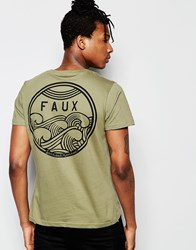 Friend Or Faux Cyclone T Shirt Khaki Khaki Green