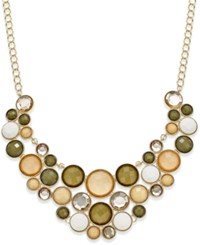 Inc International Concepts Gold Tone Neutral Color Bubble Stone Statement Necklace Only Macy's
