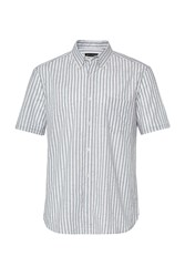French Connection Volley Stripe Connery Shirt Arctic Green