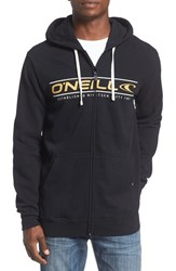 O'neill Men's 'Collect' Graphic Zip Hoodie Black