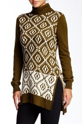 Romeo And Juliet Couture Turtleneck Tunic Sweater Green