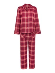 Cyberjammies Berry Check Pyjama And Eye Mask Boxed Set Burgundy