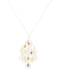 Nanis Mixed Stone Amor Oversized Chandelier Necklace