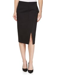 Stella Mccartney Bias Slit Mid Calf Skirt Black