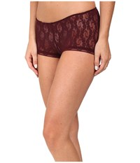 Only Hearts Club Stretch Lace Ruched Back Hipster Wine Women's Underwear Burgundy
