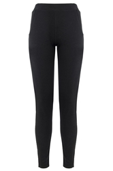 Quiz Black Crepe Elasticated Waist Trousers