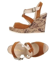 Peter Flowers Wedges Brown