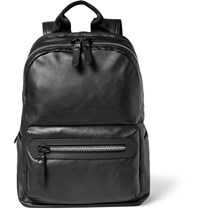 Lanvin Leather And Shell Backpack Black