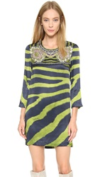 Just Cavalli Zebra Print Dress Lime Green