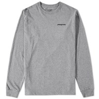 Patagonia Long Sleeve P6 Logo Tee Grey
