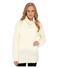 Minkpink Another Night Chunky Knit Sweater Cream Women's Sweater Beige