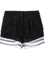Jonathan Simkhai Fringed Shorts Black