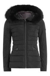Peuterey Quilted Down Jacket With Fur Trimmed Hood Gr. It 44