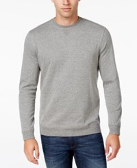 Tasso Elba Men's Big And Tall Colorblocked Stripe Sweatshirt Only At Macy's Cloudy Heather