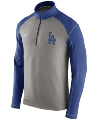 Nike Men's Los Angeles Dodgers Dri Fit Touch Half Zip Pullover Royalblue Gray