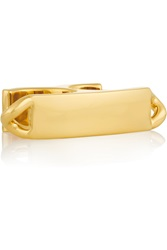 Maison Martin Margiela Gold Plated Two Finger Ring
