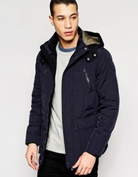 Puffa Parka With Hood Navy
