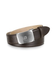 Giorgio Fedon Smooth Brown Adjustable Leather Belt