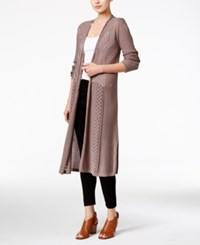 Styleandco. Style Co. Petite Pointelle Duster Cardigan Only At Macy's Bastille Grey