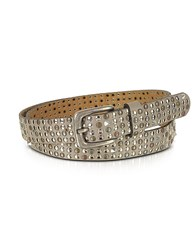 Forzieri Taupe Studded Leather Belt