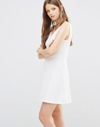 Jdy Skater Dress In White Cloud Dancer