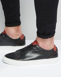 Ted Baker Kiing Leather Trainers Black