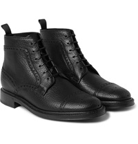 Full Grain Leather Brogue Boots