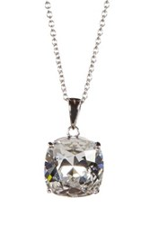 Candela Swarovski Crystal Embellished Pendant Necklace No Color