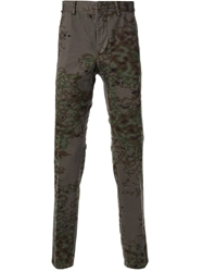 The Editor Camouflage Print Trousers Green