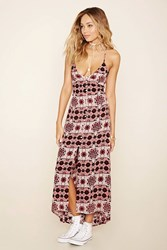 Forever 21 Button Front Floral Maxi Dress