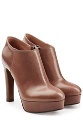 Lautre Chose Leather Platform Ankle Boots Gr. It 41