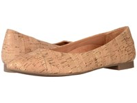 Vionic Gem Caballo Ballet Flat Gold Cork Women's Flat Shoes