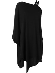 Lost And Found One Shoulder Asymmetric Dress Black
