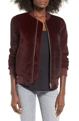 J.O.A. Women's Faux Pony Hair Bomber Jacket
