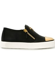 Giuseppe Zanotti Design Contrasted Toe Cap Sneakers Black