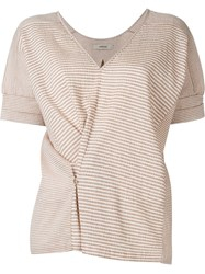 Humanoid 'Buddy' Striped Top Brown