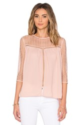 Endless Rose Lace Up Back Top Blush