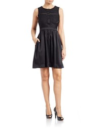 Taylor Lace Fit And Flare Dress Black