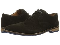 Hush Puppies Style Brogue Black Suede Men's Lace Up Wing Tip Shoes