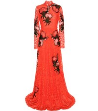 Erdem Carolyn Embroidered Applique Lace Gown