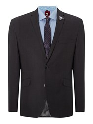 Lambretta Plain Notch Collar Slim Fit Suit Grey